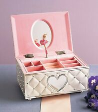 Ballerina Jewelry Box for Little Girls Teens Storage Musical Case Organizer Gift