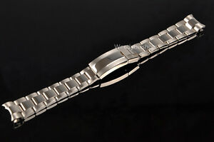 20mm-Two-Tone-Silver-Watch-Band-Strap-Solid-Curve-End-New-Style-Oyster-Bracelet