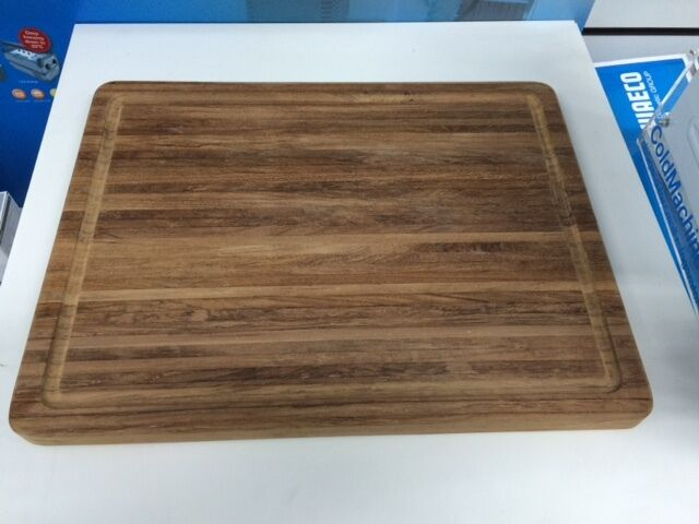 Solid Teak Rectangle Chopping   Cutting Board For Boat Galley 38x30cm IDEAL GIFT
