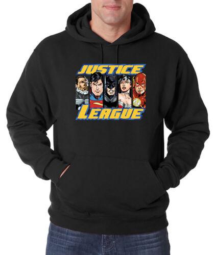 Trvppy Uomo Hoodie Pullover Cappuccio JUSTICE LEAGUE BATMAN SUPERMAN S 5xl