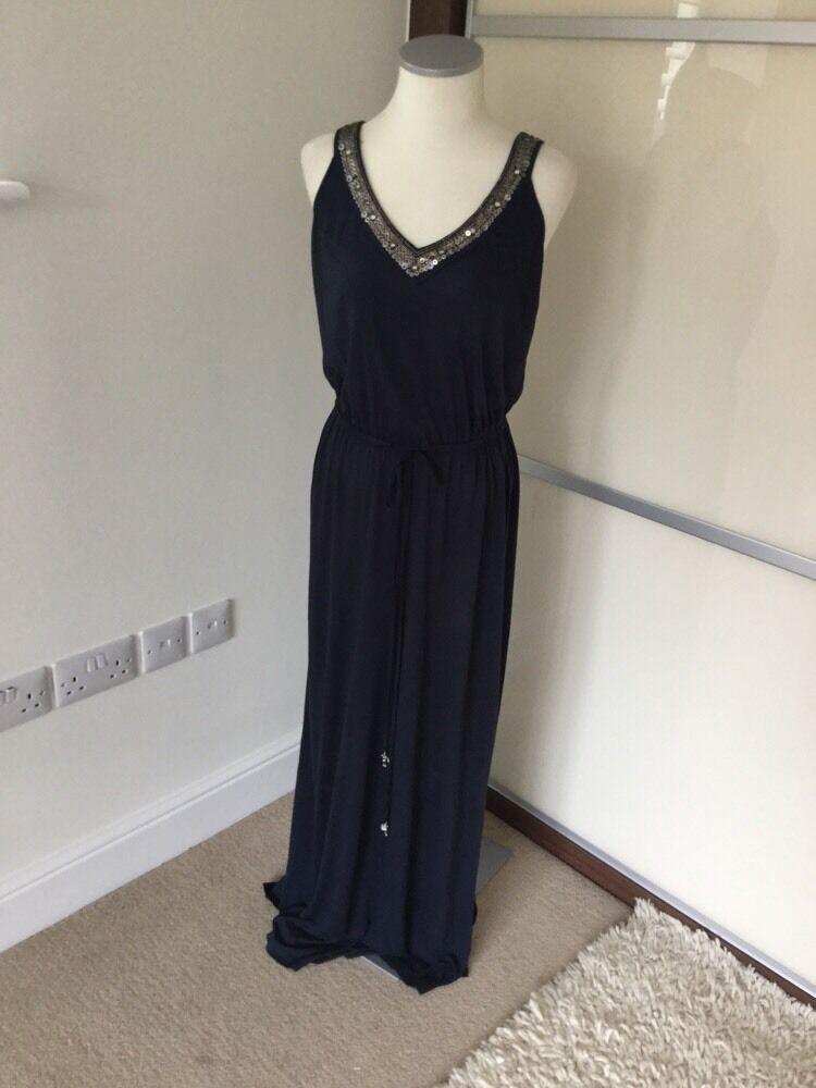 18429aa1592c6 Monsoon maxi dress navy small size nutzml641-Dresses