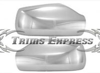 Fit: 2013-2016 Nissan Altima Chrome Door Mirror Covers - W/o Signal Cutout