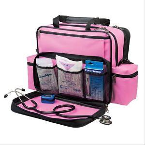 f3018af11969 Details about Hopkins Medical Products Nurses Home Health Shoulder Bag -  Pink 1 ea
