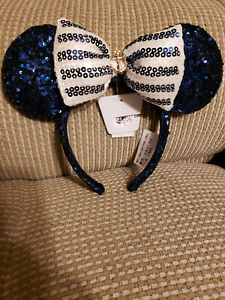 Disney Cruise Line Rose Gold Minnie Ears Headband NWT