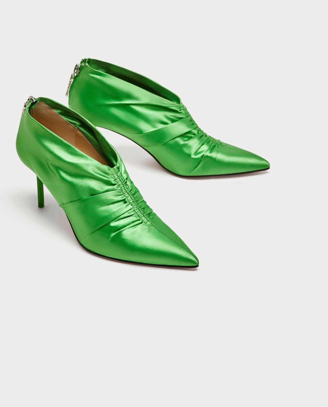En Vert Bottes Nouvelles Zara Haut À De Détail Talon Réunis Aq5n0Zwz