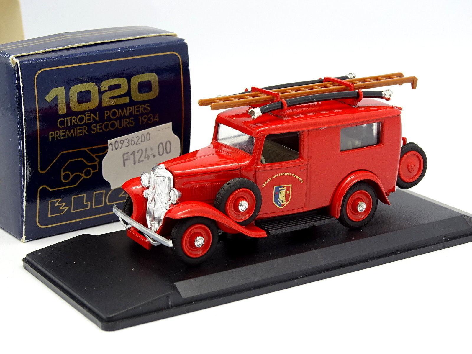 Eligor 1 43 - citroen citroen citroen 500KG 1934 Feuerwehr 9362d3