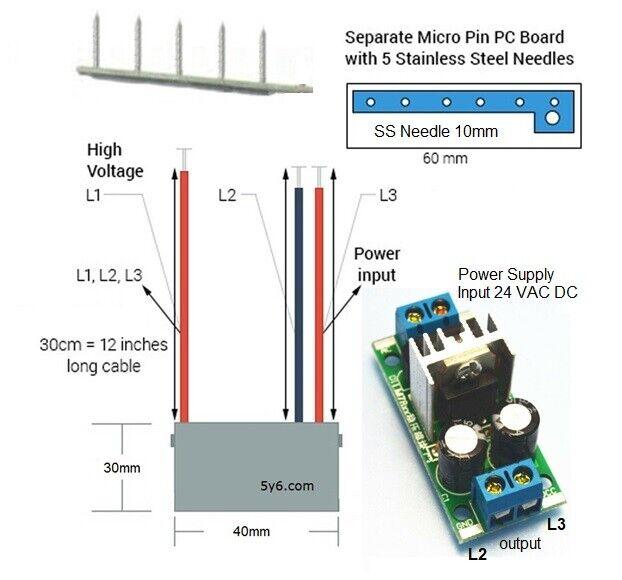 931659 Ionizer Needle Emitter Board W Negative Ion Generator Plasma Module 10kv For Sale Online Ebay