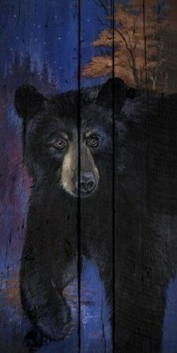 Blue Bear by Penny Wagner Bear Print 8x16
