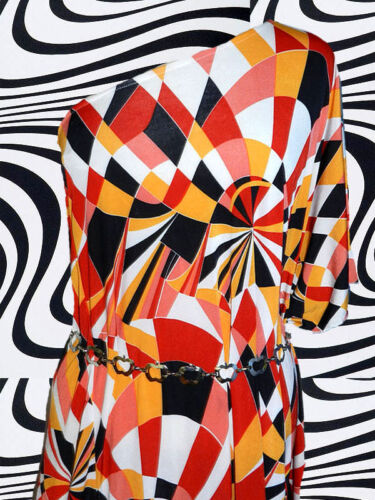 A84 ✪ 60er 70er anni MELA catene CINTURA discoteca revival Woodstock ARGENTO