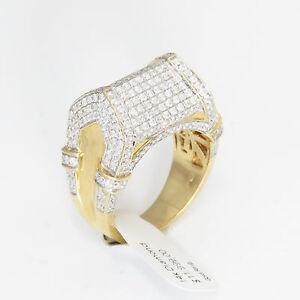 NYJEWEL-JPM-14k-Gold-Brand-New-Superb-4ct-Diamond-Pave-Heavy-Ring