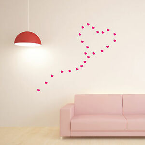 30-Hearts-High-Quality-Wall-Art-Stickers-Wall-Decals