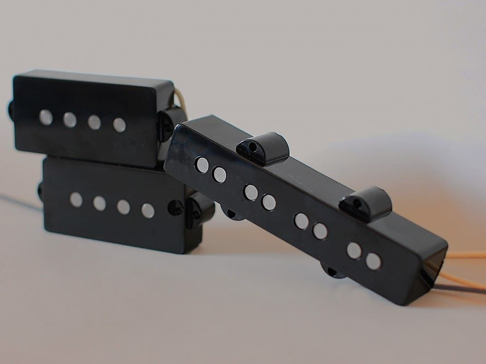 LINDY FRALIN P-J 4-String Bass Tonabnehmer Set - Schwarz (Lager P 5% Split J