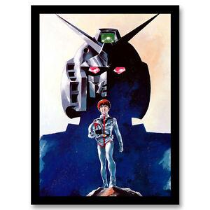 mobile suit gundam classic cartoon canvas poster art prints 8x11