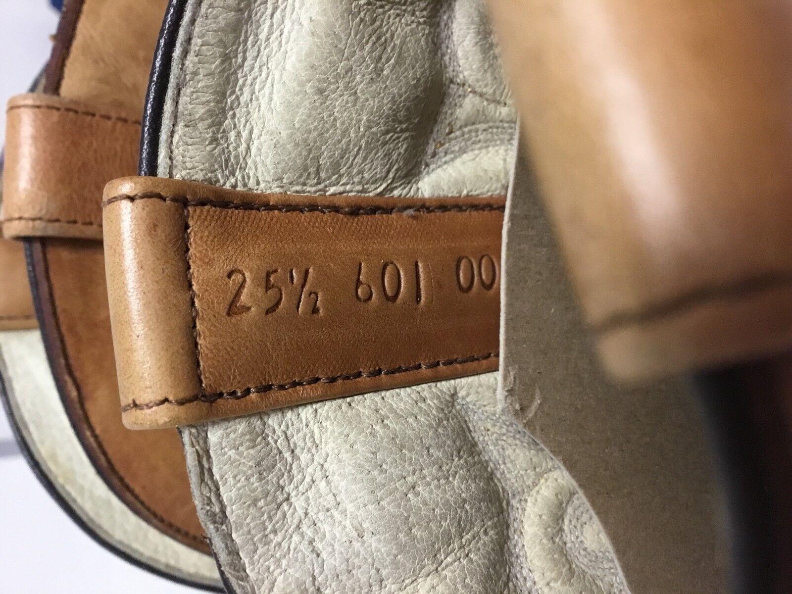 Para Hombre Botas Vaqueras De Cuero Marrón Crazy Bull u Zapatos tamaño 25.5/7.5 Zapatos u botas hombre c960bd