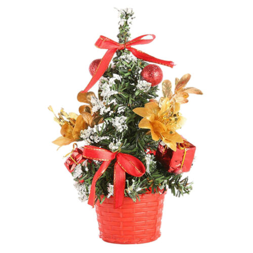 Adorable Small Christmas Tree with Baubles Home Decoration Holidy Decor