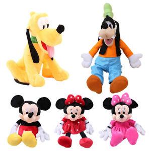 7 Styles 30cm Mickey Mouse Minnie Plush Toys Cute Goofy Dog Pluto Dog Kawaii