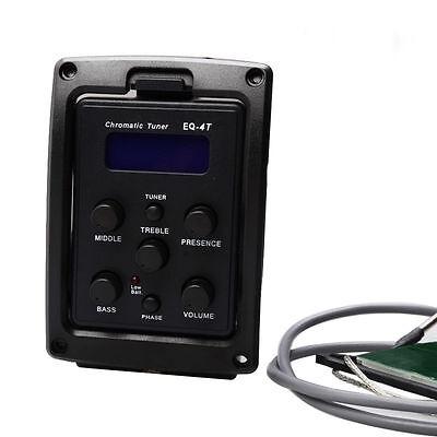 1pcs 2 Band Equalizer Pickup Eq Pickup Preamp Piezo Pickup mit LCD-Display