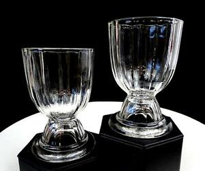 EAPG-EARLY-AMERICAN-PATTERN-GLASS-CLEAR-PANELED-2-PIECE-4-3-8-034-DOUBLE-EGG-CUPS