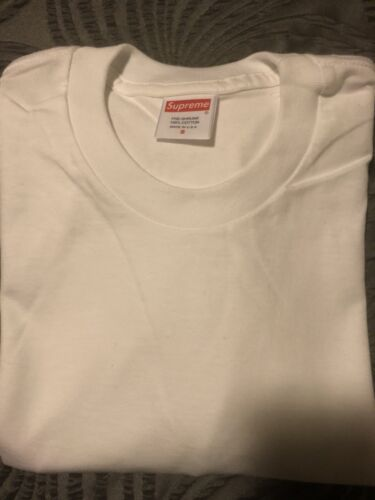 Supreme T-Shirt Plain White Size Small Long Sleeve
