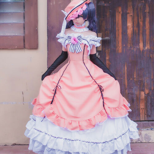 Black Butler Ciel Phantomhive Cosplay Costume Kuroshitsuji Pink Lolita Dress