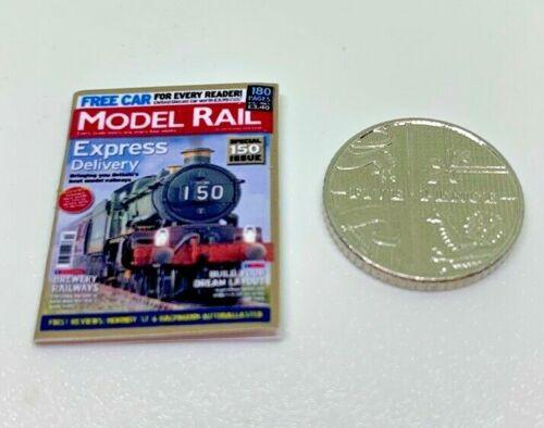 Handmade 1:12th Scale Miniature Dolls House Model Rail Magazine