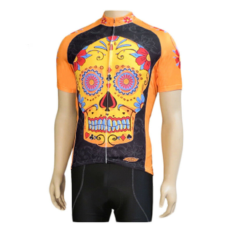 Clean Motion Cycling Jersey Clothing Jersey Clean Motion Xl Sugar Skull