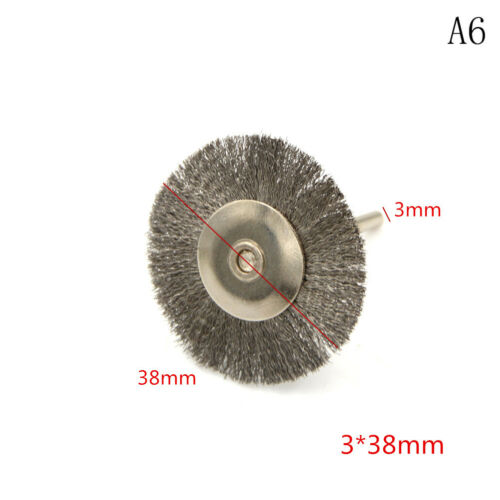 5Pcs Stainless Steel Polishing Brush Wire Wheel Brushes for Drill Rotary Tool JB