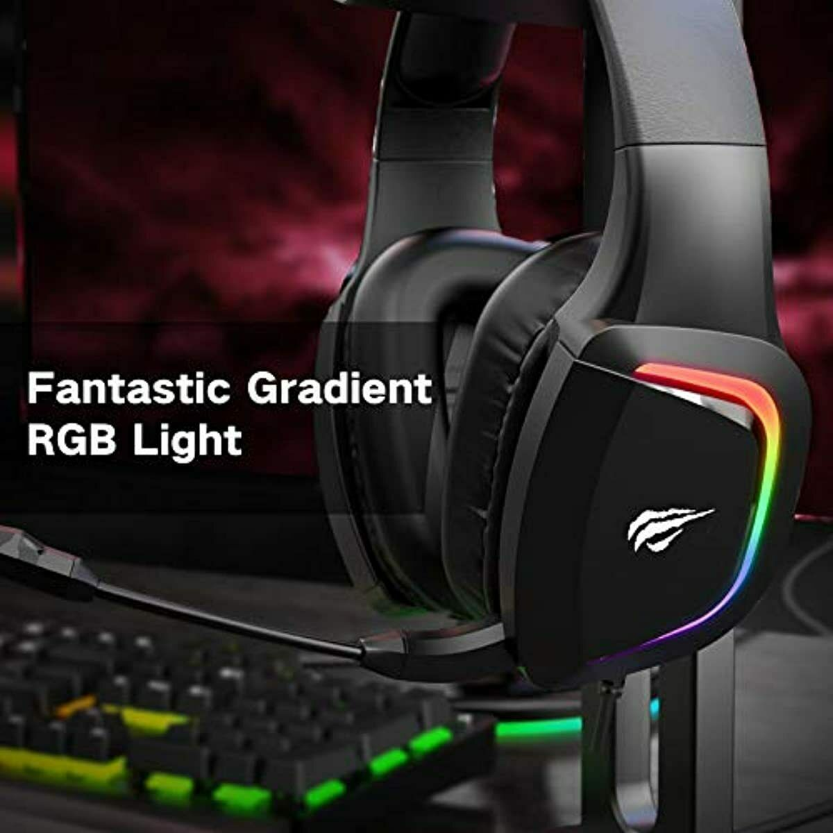 havit RGB Wired Gaming Headset for PS4/PS5/ XBOX One/PC Headsets with 50MM Drive
