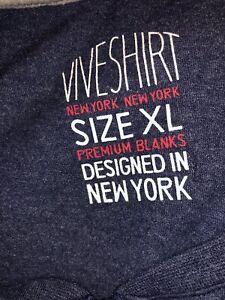 Mens-Vive-Long-Sleeve-T-Shirt-Quarter-Zip-Blue-Size-XL