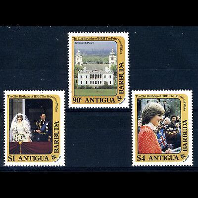 ay030 Mint Never Hinged. Packing Of Nominated Brand Sg 748-750 Initiative Antigua & Barbuda 1982 Royal Birthday