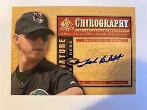 2000 Upper Deck SP Top Prospects Josh Beckett Chirography Autograph Marlins🔥🔥