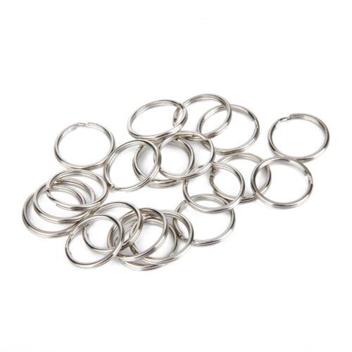 Flat Key Rings 100Pcs 20mm Metal Keychain Rings Split Keyrings Flat O Rings