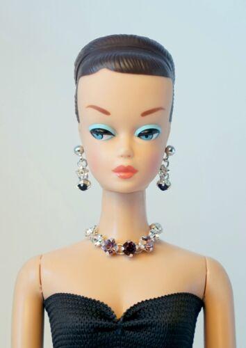 Barbie Doll Repro Vintage FR Handmade Necklace Earrings Jewelry Set NE100088