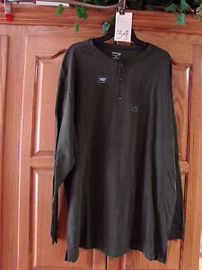 MENS-ST-JOHNS-BAY-GREEN-SUEDED-HENLEY-LONG-SLEEVE-SHIRT-SMALL