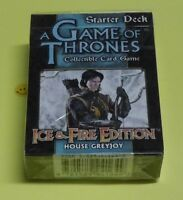 Game Of Thrones Ice & Fire House Greyjoy Starter Deck Collectible Card