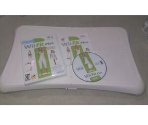 Nintendo Wii Fit Plus Balance Board & Game Bundle Lot CLEANED TESTED Fast Ship!