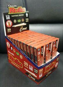 180-DISPLAY-BOX-Rollo-Cigarrette-Cones-Organic-King-Size-Pre-Rolled-Paper-Raw
