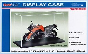 TRUMPETER-09804-Display-clear-case-with-base-Stackable-for-1-12th-motor-bikes