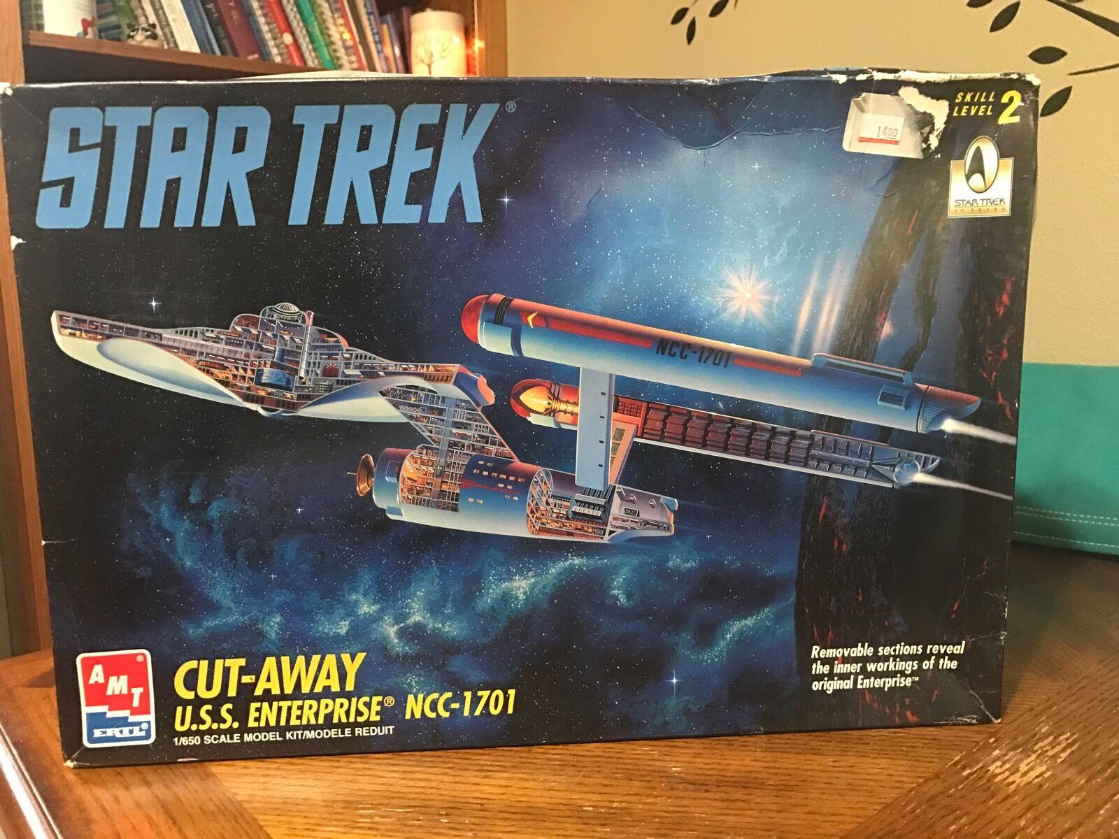Original Star Trek USS Enterprise Modelo De Aluminio Modelo De Corte Juguetes 8790