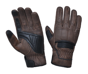 Mens-Distressed-Brown-Motorcycle-Gloves-With-DuPont-Kevlar-lined-palm-8169-BR