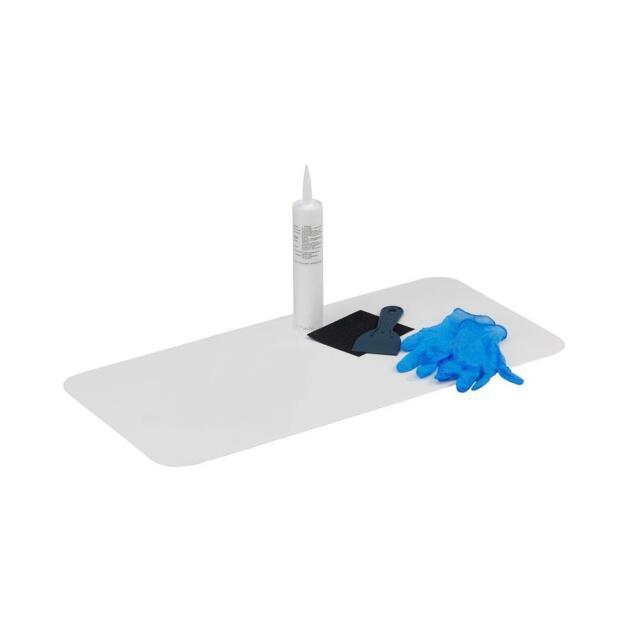 Incroyable DIY Bathtub Floor Repair White 16 X 36in Crack Leaky Tub Kit Porcelain Floor  Fix