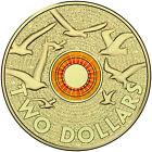 2015 Australia $2 Dollar Anzac Remembrance Day Orange Ring Commemorative Coin