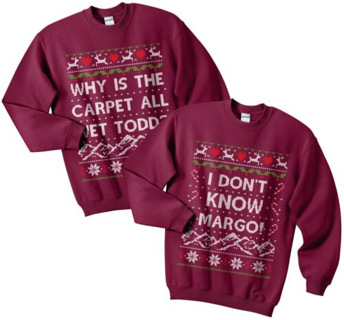 Why is The Carpet All Wet Todd Christmas Sweater Jumper Set Funny Matching Margo