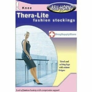Bell-Horn-TheraLite-9-15mmHg-Knee-high-Close-Toe-Stocking-in-Beige-Size-Medium