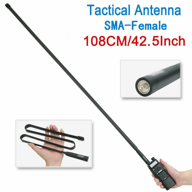 NEW Tactical Antenna SMA-Female Dual Band VHF UHF For Baofeng UV-5R//82 GL US