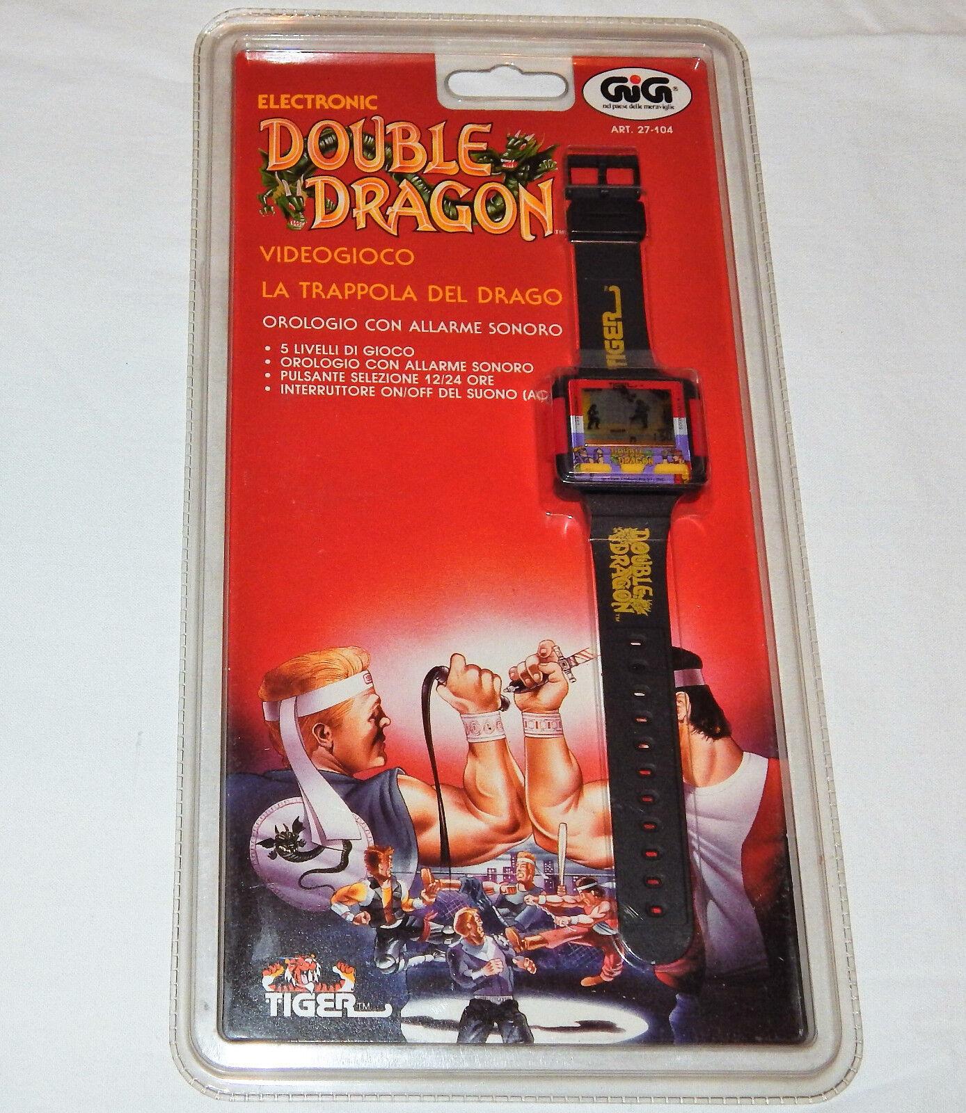 Reloj de Pulsera Vintage TigreGig Double Dragon Juego Portátil LCDReediciónStreet Fighter