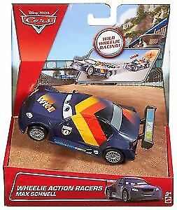 NEUF! Disney Cars Wheelie Action Racers Flash McQueen Max rapidement voiture de course