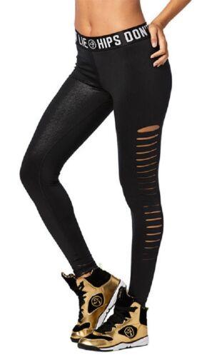 XL XXL Black sz Large Zumba Zumba Party Slashed Ankle Leggings