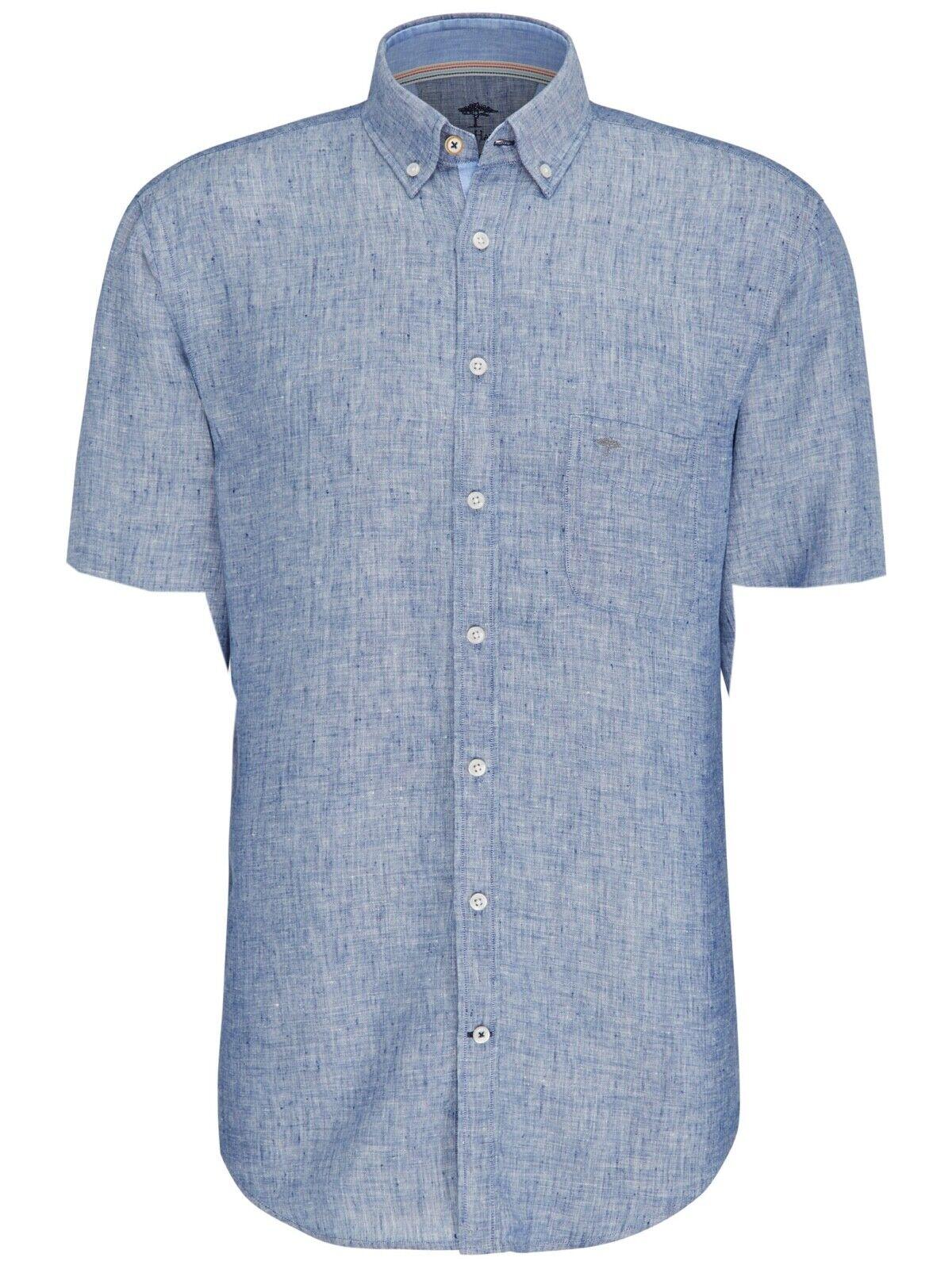 FYNCH HATTON® Linen Linen Linen Short Sleeve Shirt Navy - XL New SS19 | Hochwertige Produkte  6aaeed