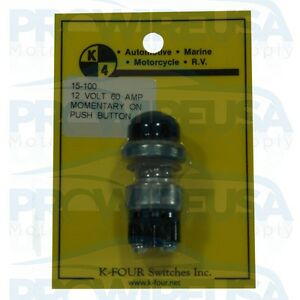 K4 15-100 Heavy Duty Sealed Start Button Push Button Black Boot Drag Race Tuner